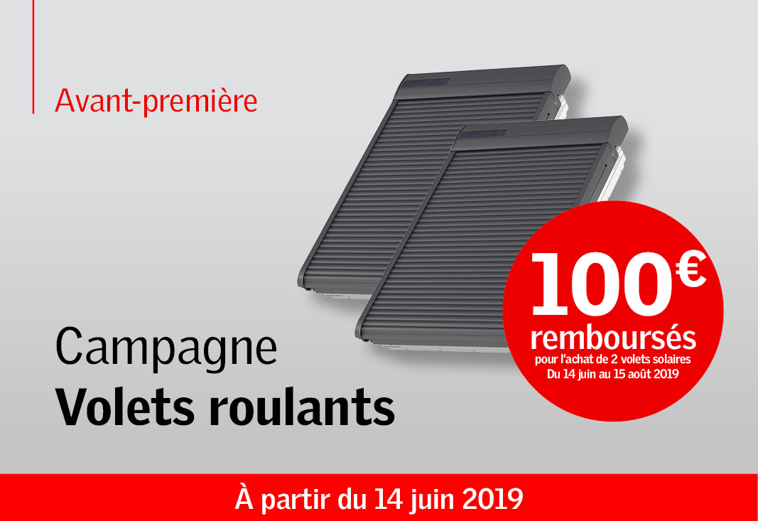Offre volets roulants solaires VELUX_2019